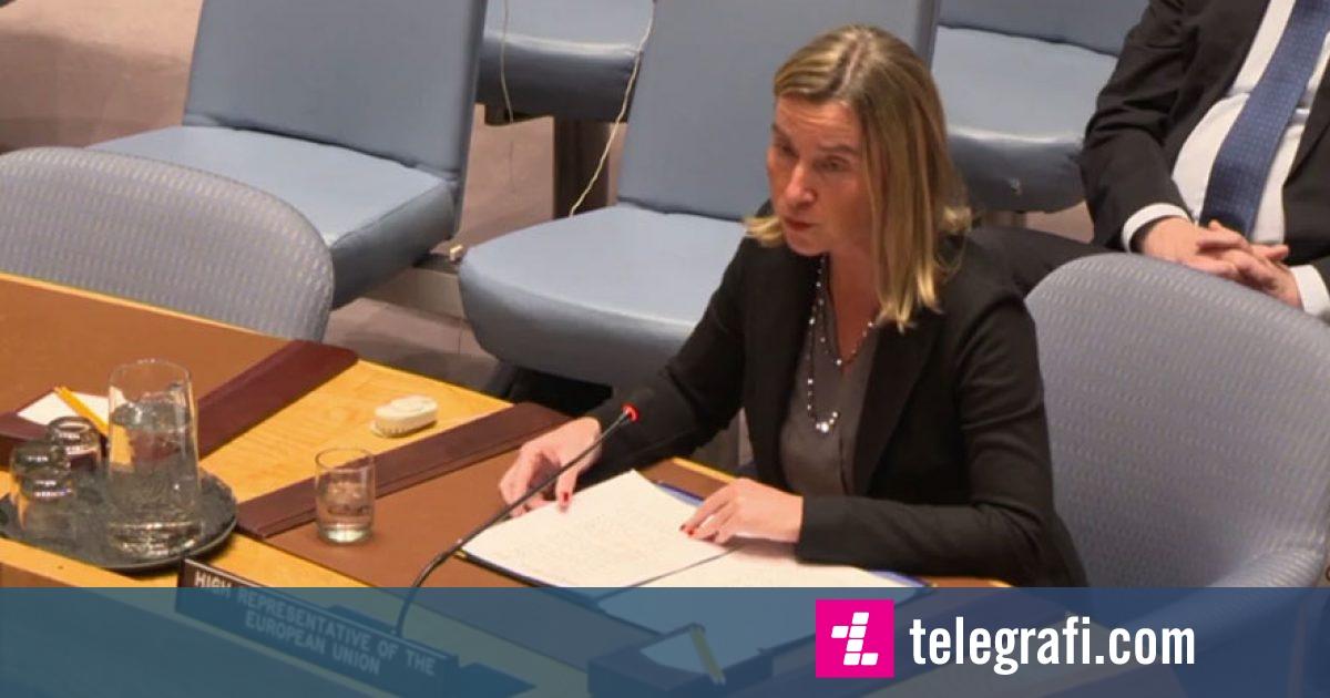 Mogherini flet për dialogun Kosovë-Serbi në KS të OKB: Të hiqet taksa