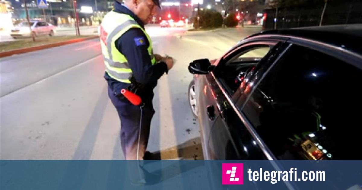 Policia gjobiti shoferët që vozisin nën ndikim të alkoolit (Video)