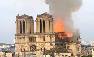 Katedralja Notre Dame kaplohet nga zjarri (Video)