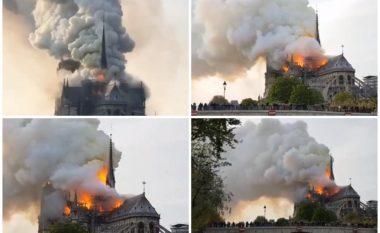 Pamje nga zjarri që ka kapluar katedralen Notre Dame në Paris (Foto/Video)