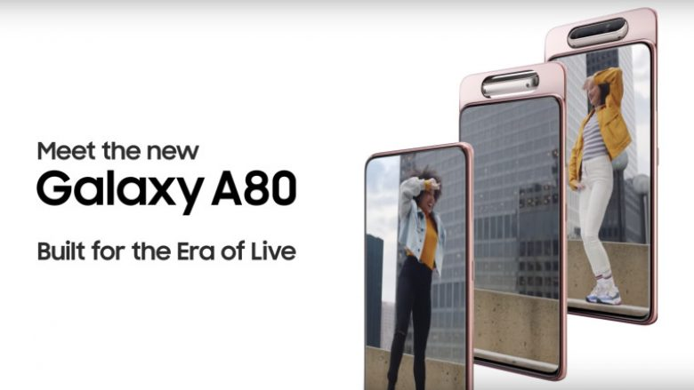 Samsung shfaq kamerën rrotulluese të Galaxy A80