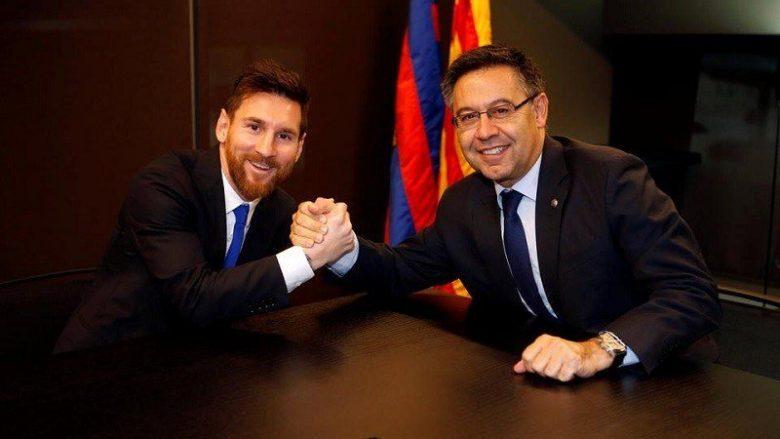 Messi dhe presidenti i Barcelonës, Bartomeu