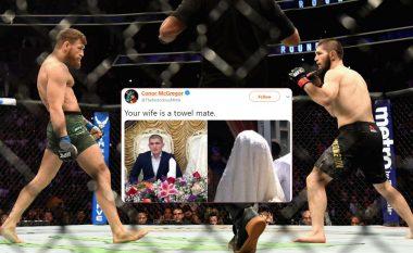 McGregor e ofendon rëndë gruan e Khabibit, por detyrohet ta fshijë postimin pas akuzave për racizëm dhe islamofobi