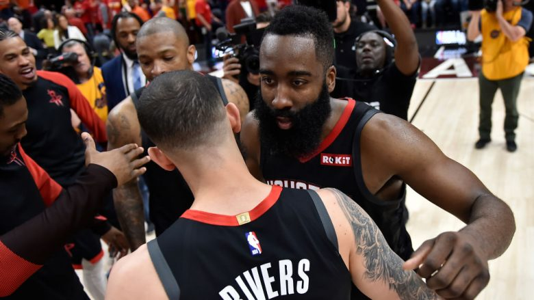 James Harden dhe Austin Rivers. (Foto: Gene Sweeney Jr./Getty Images/Guliver)