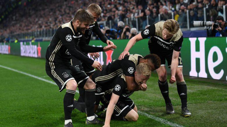 Festa e lojtarëve të Ajaxit (Foto: Stuart Franklin/Getty Images/Guliver)