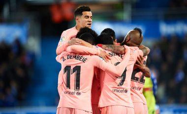 Barcelona fiton ndaj Alavesit, një hap larg titullit