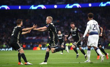 Mrekullia Ajax fiton edhe në Londër ndaj Tottenhamit, hap i madh drejt finales