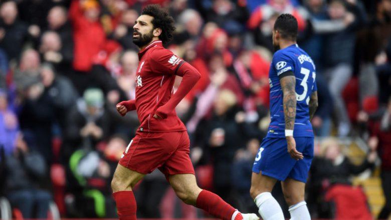Mohamed Salah momente pas golit ndaj Chelseat (Foto: Michael Regan/Getty Images/Guliver)
