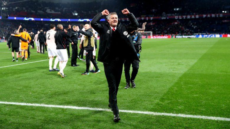 Ole Gunnar Solskjaer pas fitores ndaj PSG-së (Foto: Julian Finney/Getty Images/Guliver)