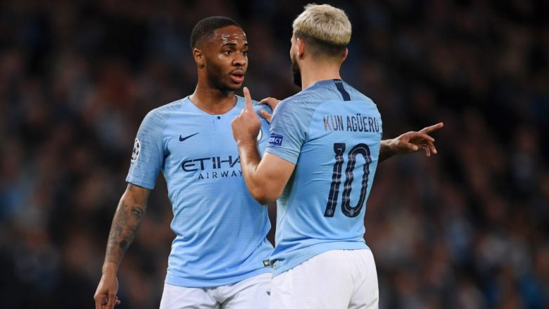 Raheem Sterling dhe Sergio Aguero (Foto: Laurence Griffiths/Getty Images/Guliver)