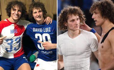 Momenti që i hutoi tifozët e Chelseat - David Luiz takoi pas ndeshjes 'kopjen' e tij Alex Kral që luan te Slavia Pragë
