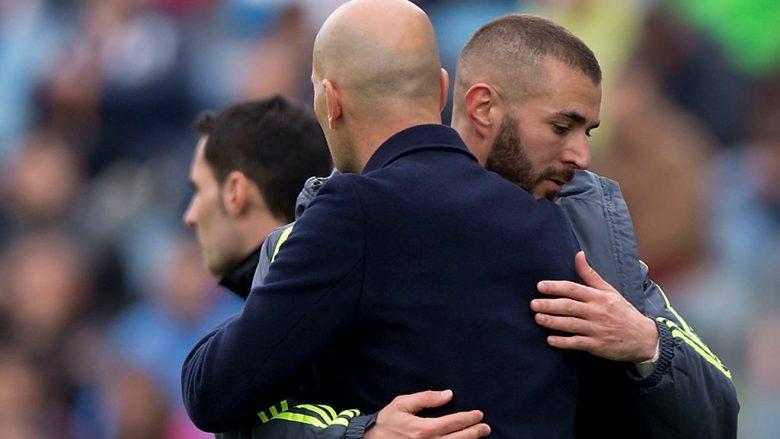 Zinedine Zidane - Karim Benzema (Foto: Gonzalo Arroyo Moreno/Getty Images/Guliver)