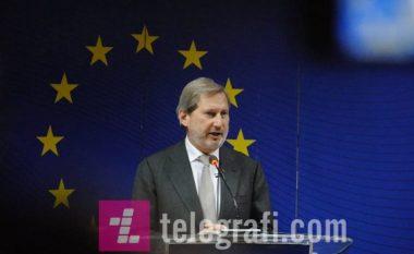Hahn: BE nisi negociatat me Serbinë edhe pse duhet zgjidhur situatën rreth dialogut me Kosovën