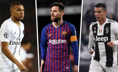 Vazhdon gara e nxehtë për Këpucën e Artë - Messi i pari, Mbappe i dyti dhe Ronaldo i 11-ti