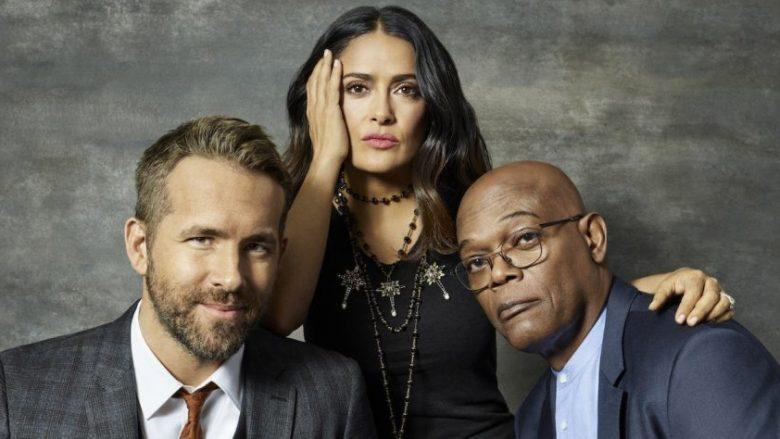 Ryan Reynolds, Salma Hayek dhe Samuel L. Jackson (Foto: Moviefone)
