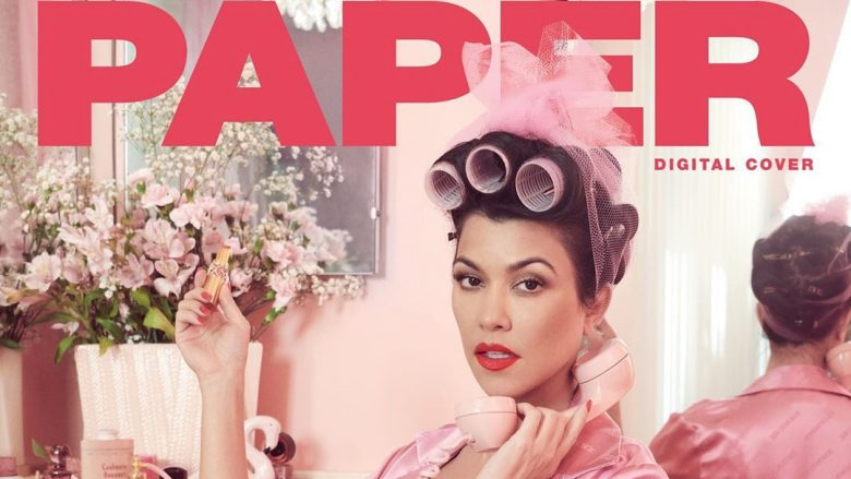 Kourtney Kardashian në kopertinën e revistës Paper (Foto: Instagram/kourtneykardashian)