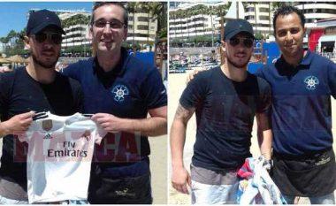 Eden Hazard pozon me fanellën e Real Madridit