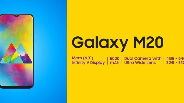 Galaxy M20, telefoni i lirë i Samsung, tani edhe në tregun evropian
