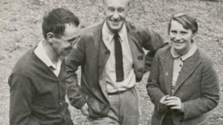 """Nga e djathta: """"Mësuesja e vogël"""" Margarete Steffin, Henry Peter Matthis dhe Bertolt Brecht"""