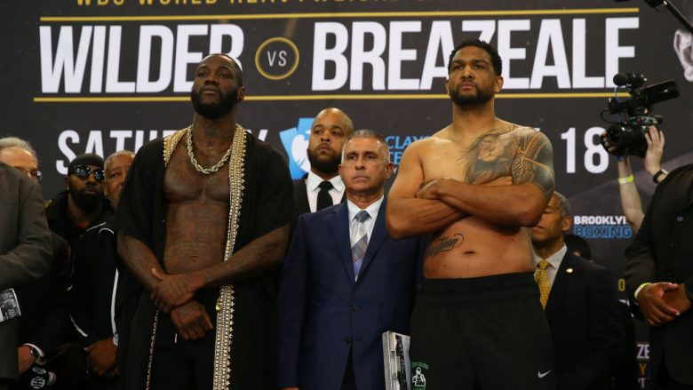 Deontay Wilder dhe Dominic Breazeale (Foto: Mike Stobe/Getty Images/Guliver)