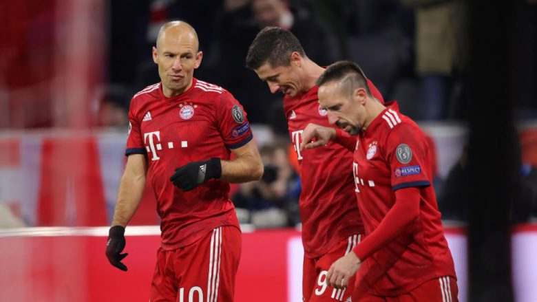 Robert Lewandowski, Arjen Robben dhe Franck Ribery (Foto by Alex Hassenstein/Getty Images/Guliver)