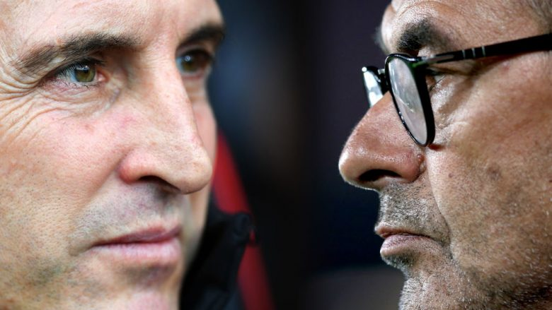 Unai Emery  e Maurizio Sarri. (Photo by Jan Kruger/Getty Images)