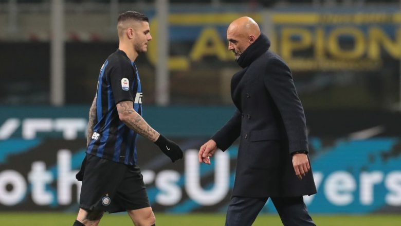 Spalletti e Icardi .  (Photo by Emilio Andreoli/Getty Images)