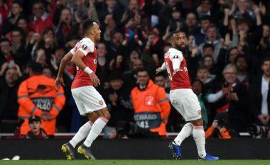 Arsenali fiton me rikthim ndaj Valencias, Topçinjtë një hap larg finales në EL