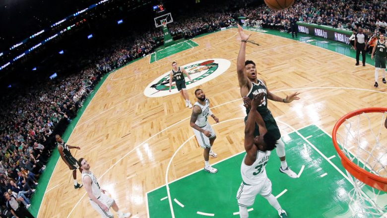 Giannis Antetokounmpo  (Photo by Maddie Meyer/Getty Images)