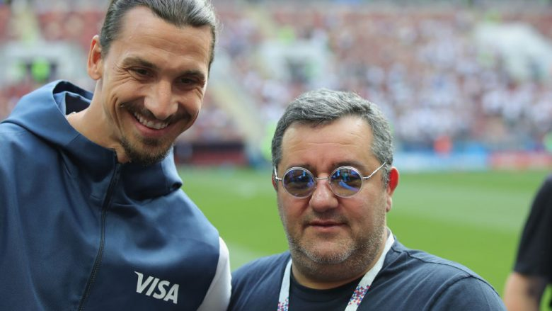 Mino Raiola dhe Zlatan Ibrahimovic (Foto by Alexander Hassenstein/Getty Images/Guliver)