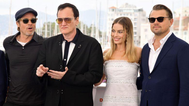 Brad Pitt, Quentin Tarantino, Margot Robbie dhe Leonardo DiCaprio (Foto: Matt Winkelmeyer/Getty Images)