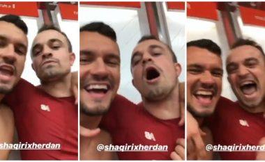 Festa e Shaqirit pas kalimit të Liverpoolit në finale të Ligës së Kampionëve