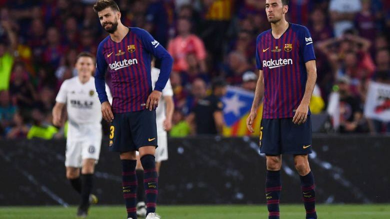 Gerard Pique dhe Sergio Busquets (Foto: Alex Caparros/Getty Images/Guliver)