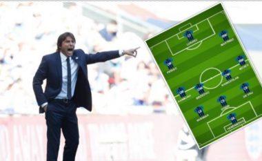Si do të duket Interi nën drejtimin e Antonio Contes me Romelu Lukaku dhe Victor Moses – mungon në sulm Mauro Icardi