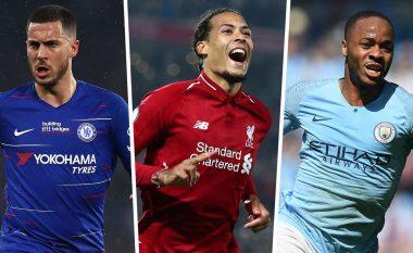 Goal zgjedh formacionin më të mirë të sezonit në Ligën Premier - Dominojnë lojtarët e City, mungon Salah