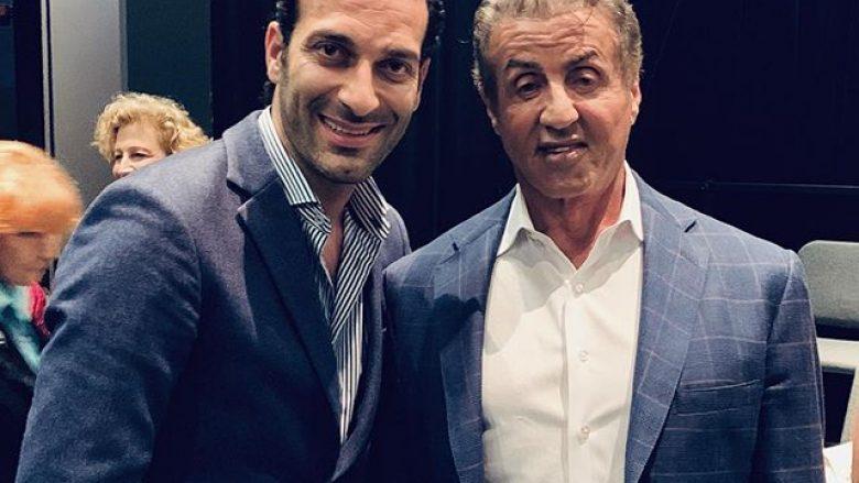 Tenori i famshëm kosovar, Ramë Lahaj, dhe aktori i njohur Sylvester Stallone (Foto: Ramë Lahaj/Instagram)