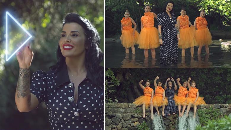 """Jonida Maliqi në kartolinën prezantuese të Shqipërisë në """"Eurovision 2019"""" (Foto: YouTube)"""