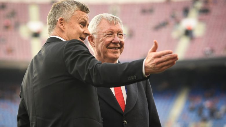 Ole Gunnar Solskjaer dhe Sir Alex Ferguson (Foto: Michael Regan/Getty Images/Guliver)