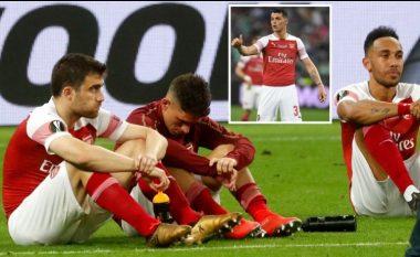 Sa i madh është Granit Xhaka – i ftoi lojtarët e dëshpëruar të Arsenalit për t'i përshëndetur fansat që kishin udhëtuar, shumë e duan tani si kapiten