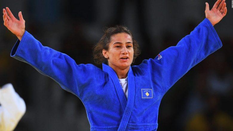 Majlinda Kelmendi në gjysmëfinale, në garë për titullin e kampionit të Botës