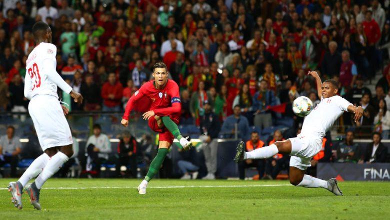 Cristiano Ronaldo në ndeshjen ndaj Zvicrës (Foto: Jan Kruger/Getty Images/Guliver)