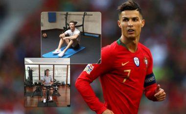 Në vend që të relaksohet në plazh apo pranë pishinës, Ronaldo po i kalon pushimet në palestër