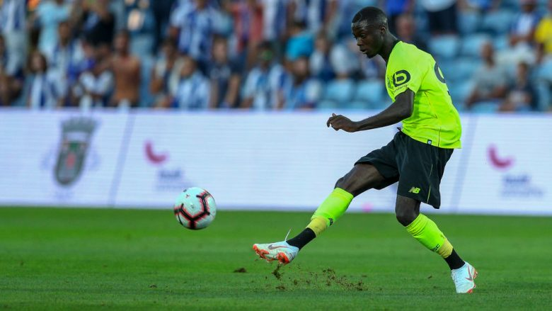 Nicolas Pepe. (Photo by Carlos Rodrigues/Getty Images)