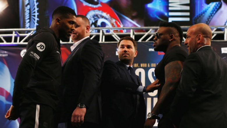 Jarrell Miller dhe Anthony Joshua  (Foto: Mike Stobe/Getty Images/Guliver)