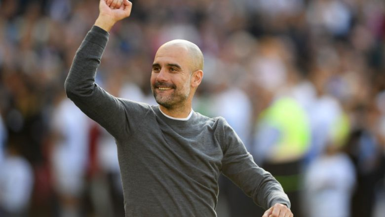Pep Guardiola . (Photo by Mike Hewitt/Getty Images)
