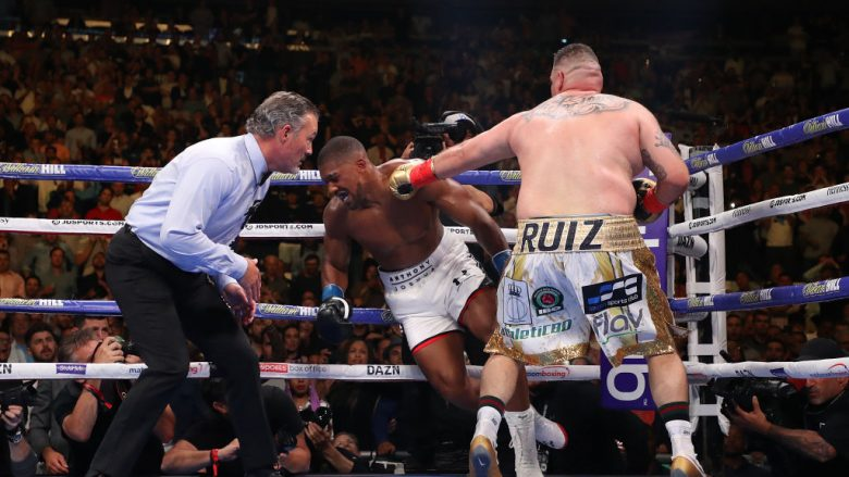 Anthony Joshua dhe Andy Ruiz (Foto: Al Bello/Getty Images/Guliver)