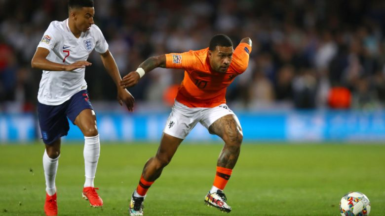 Memphis Depay . (Photo by Dean Mouhtaropoulos/Getty Images)