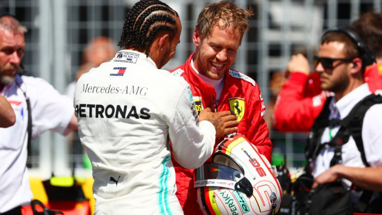 Sebastian Vettel dhe Lewis Hamilton (Foto: Dan Istitene/Getty Images/Guliver)