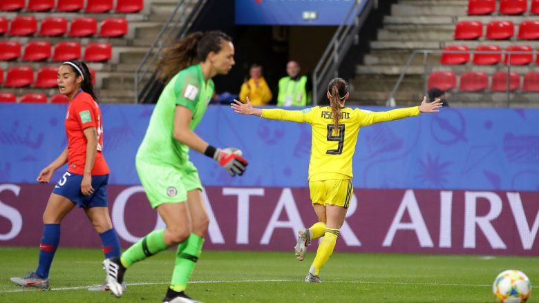 Kosovare Asllani . (Photo by Richard Heathcote/Getty Images)
