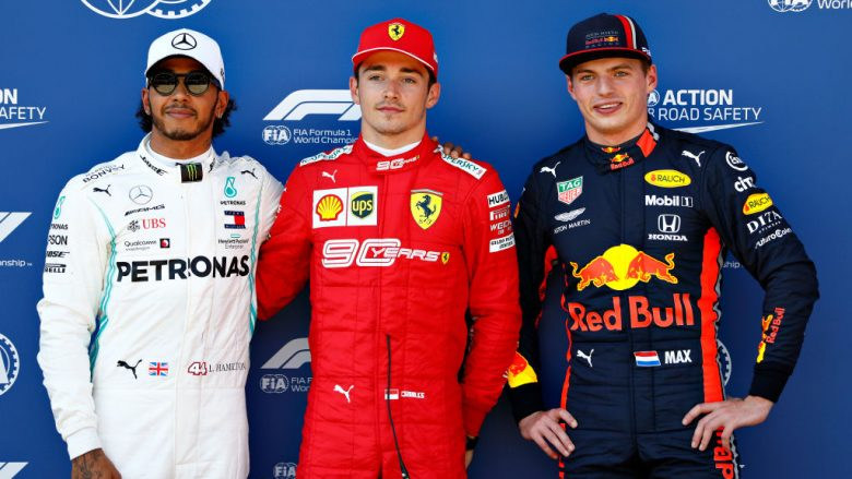 Charles Leclerc, Lewis Hamilton dhe Max Verstappen (Foto: Will Taylor-Medhurst/Getty Images/Guliver)